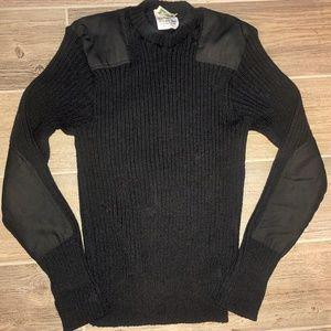 Vintage L.L BEAN Wool COMMANDO MILITARY SWEATER L